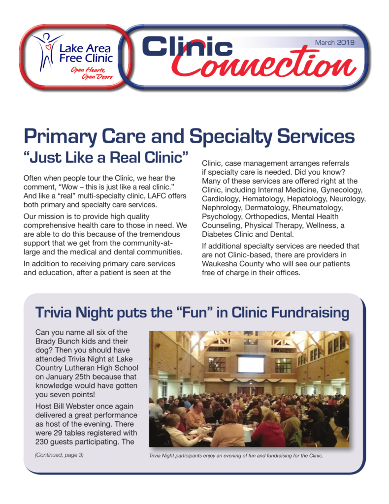 Newsletters – Lake Area Free Clinic
